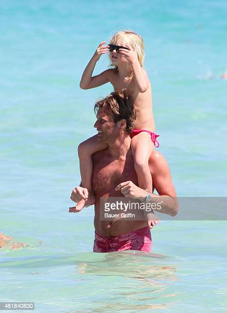 Laurent Delahousse is seen during his vacation on February 27 2011 in Miami Florida