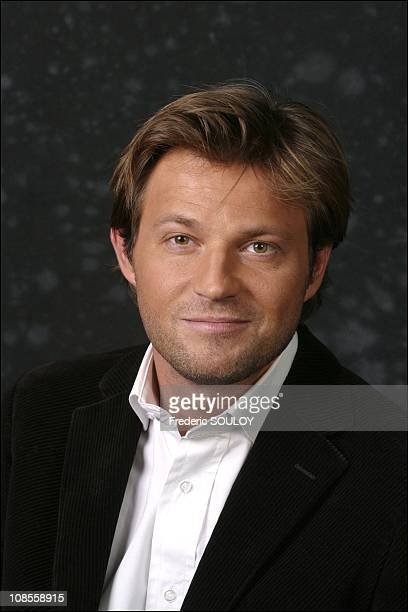 Laurent Delahousse TV host of 'Secret d'actualite' on M6 in Paris France on May 16th 2003