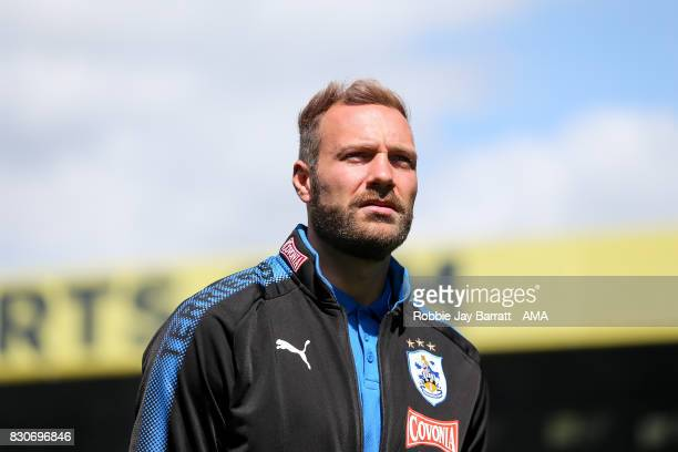 Laurent Depoitre of Huddersfield Town prior to the Premier League match between Crystal Palace and Huddersfield Town at Selhurst Park on August 12...