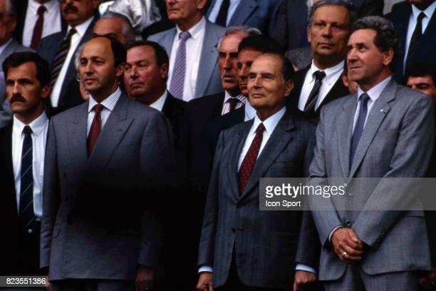 Laurent FABIUS / Fournet FAYARD / Francois MITTERRAND Marseille / Monaco Finale de la Coupe de France 1989