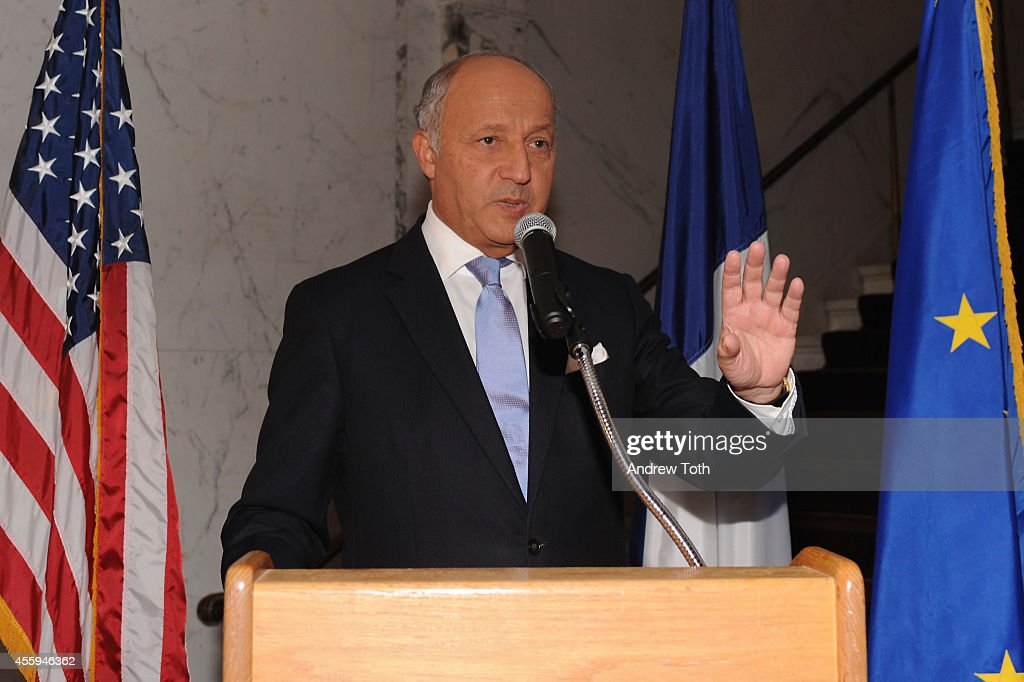 <a gi-track='captionPersonalityLinkClicked' href=/galleries/search?phrase=Laurent+Fabius&family=editorial&specificpeople=540660 ng-click='$event.stopPropagation()'>Laurent Fabius</a>, French Minister of Foreign Affairs and International Development attends Sony Pictures Classic Co-Presidents Tom Bernard and Michael Barker receive the Chevalier Legion of Honor Award at French Embassy on September 22, 2014 in New York City.