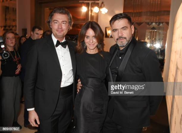 Laurent Feniou Alison Loehnis and Roland Mouret attend Harper's Bazaar Women of the Year Awards in association with Ralph Russo Audemars Piguet and...