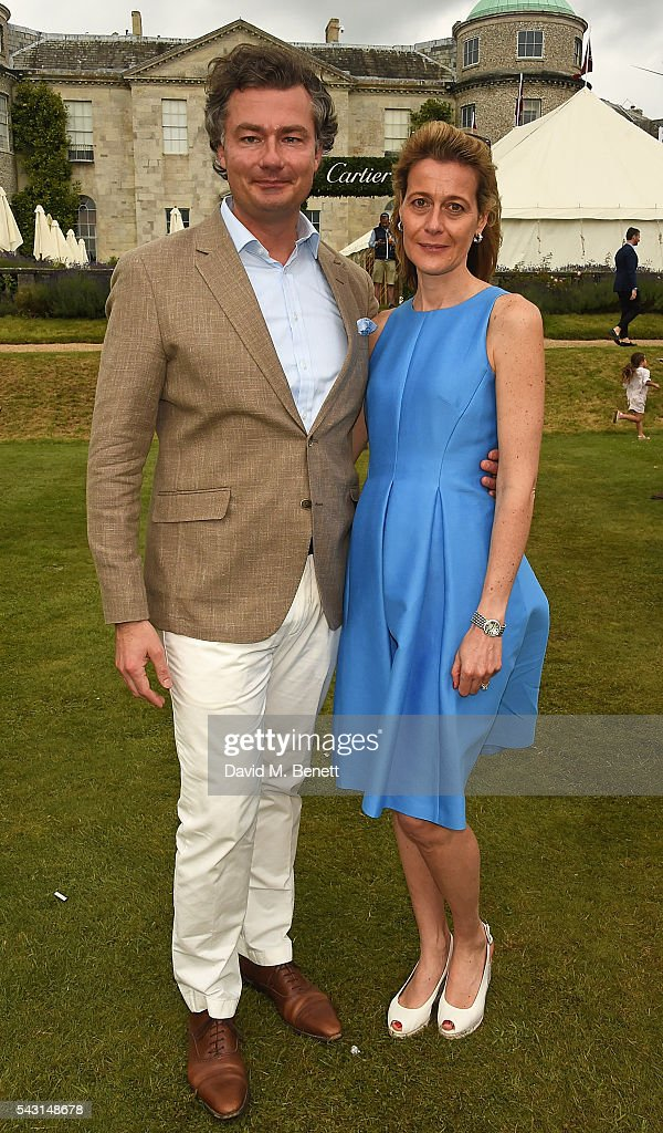 Laurent Feniou and Carine Feniou attend The Cartier Style et Luxe at the Goodwood Festival of Speed at Goodwood on June 26, 2016 in Chichester, England.