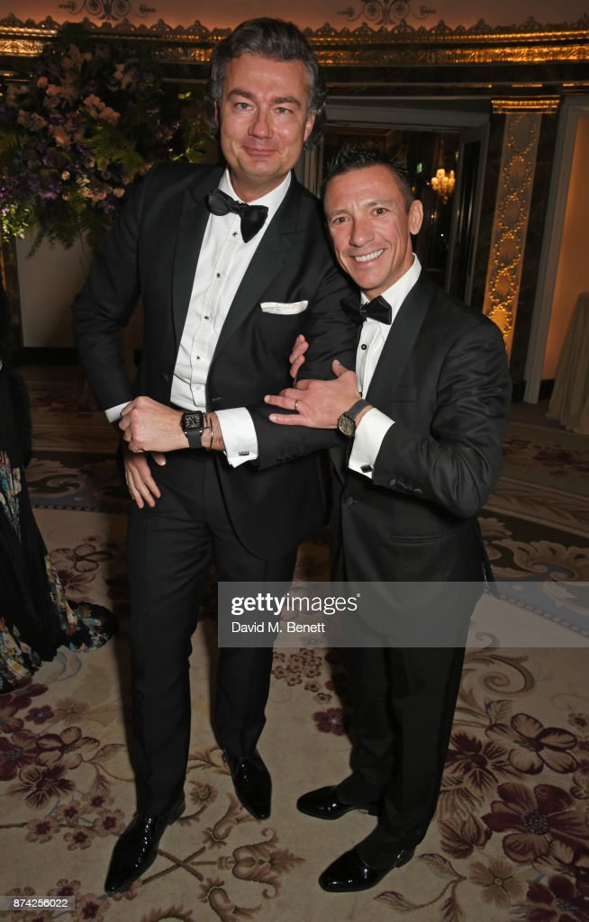 Laurent Feniou (L) and Frankie Dettori attend The Cartier Racing Awards 2017 at The Dorchester on November 14, 2017 in London, England.