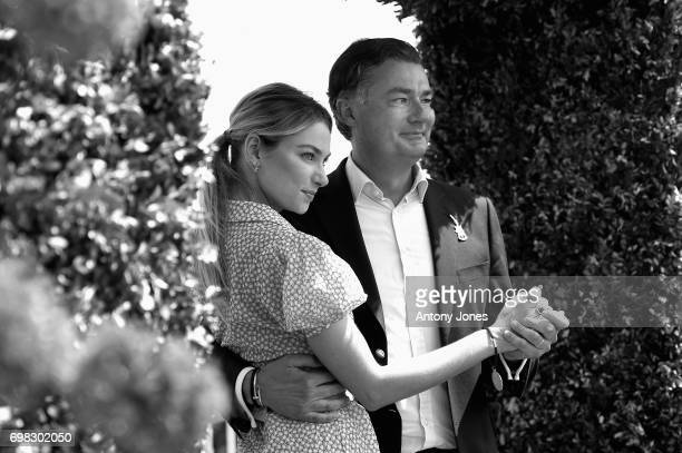 Laurent Feniou and Jessica Hart attend the Cartier Queen's Cup Polo at Guards Polo Club on June 18 2017 in Egham England 2