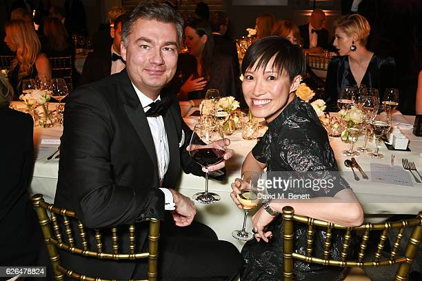 Laurent Feniou and Sandra Choi attend as PORTER hosts a special performance of Letters Live in celebration of their Incredible Women of 2016 at The...