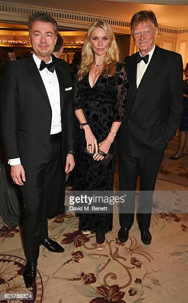 Laurent Feniou Jodie Kidd and John Kidd attend The Cartier Racing Awards 2016 at The Dorchester on November 8 2016 in London England