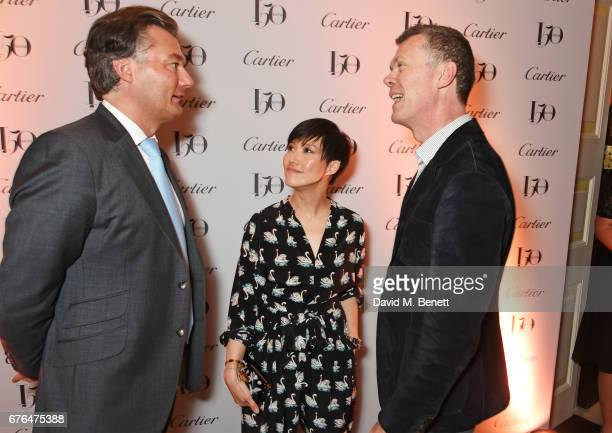 Laurent Feniou Sandra Choi and Pierre Denis attend the Harper's Bazaar 150th Anniversary Party at William Kent House at The Ritz on May 2 2017 in...