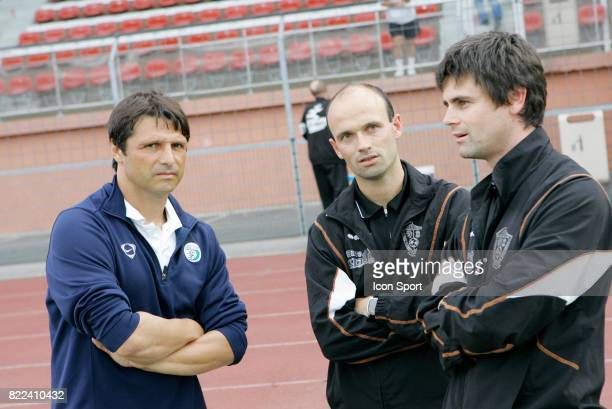 Laurent FOURNIER / Franck KERDILES / Christian LEBEC Creteil / Plabennec 1ere journee de National Stade Charlety Paris