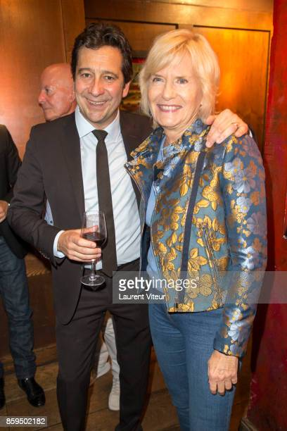 Laurent Gerra and Catherine Ceylac attend 'Carnets d'un Sale Gosse' Laurent Gerra Signing his book at Buddha Bar on October 9 2017 in Paris France
