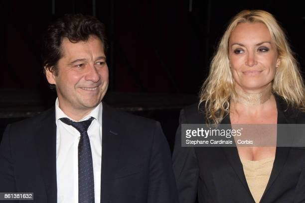 Laurent Gerra and Christelle Bardet attend the Opening Ceremony of the 9th Film Festival Lumiere on October 14 2017 in Lyon France