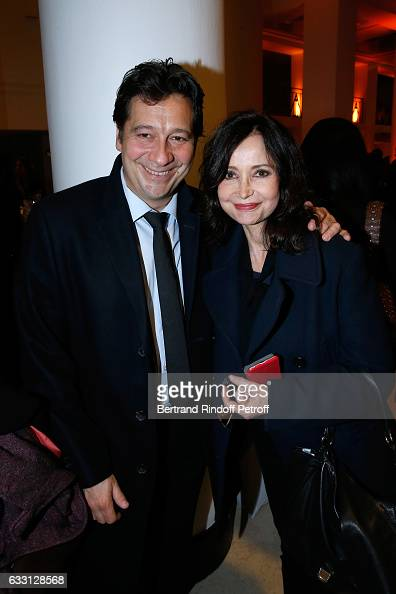 Laurent Gerra and Evelyne Bouix attend the Charity Gala against Alzheimer's disease at Salle Pleyel on January 30 2017 in Paris France