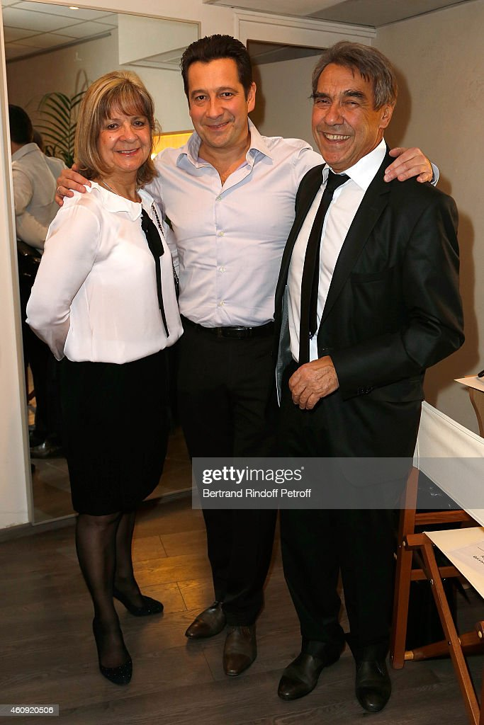 <a gi-track='captionPersonalityLinkClicked' href=/galleries/search?phrase=Laurent+Gerra&family=editorial&specificpeople=538435 ng-click='$event.stopPropagation()'>Laurent Gerra</a> and his Parents Nicole Gerra and Nanou Gerra attend in Backstage the <a gi-track='captionPersonalityLinkClicked' href=/galleries/search?phrase=Laurent+Gerra&family=editorial&specificpeople=538435 ng-click='$event.stopPropagation()'>Laurent Gerra</a> Show, at Palais des Sports on December 23, 25,26 and 27, 2014 in Paris, France.