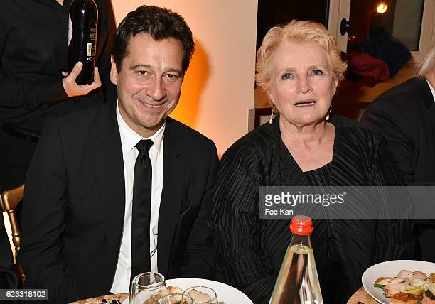 Laurent Gerra and Marie Christine Barrault attend the Gala de L'Espoir 2016 at Theatre du Chatelet on November 14 2016 in Paris France