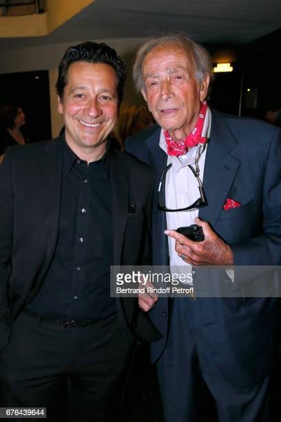 Laurent Gerra and Venantino Venantini attend the 'Vive la Crise' Paris Premiere at Cinema Max Linder on May 2 2017 in Paris France