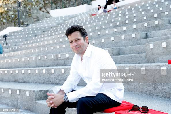 Laurent Gerra attends the 30th Ramatuelle Festival Day 4 on August 4 2014 in Ramatuelle France