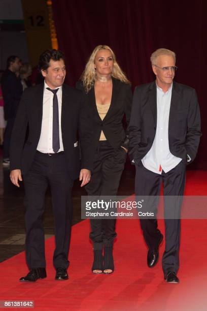 Laurent Gerra Christelle Bardet and Christophe Lambert attend the Opening Ceremony of the 9th Film Festival Lumiere on October 14 2017 in Lyon France