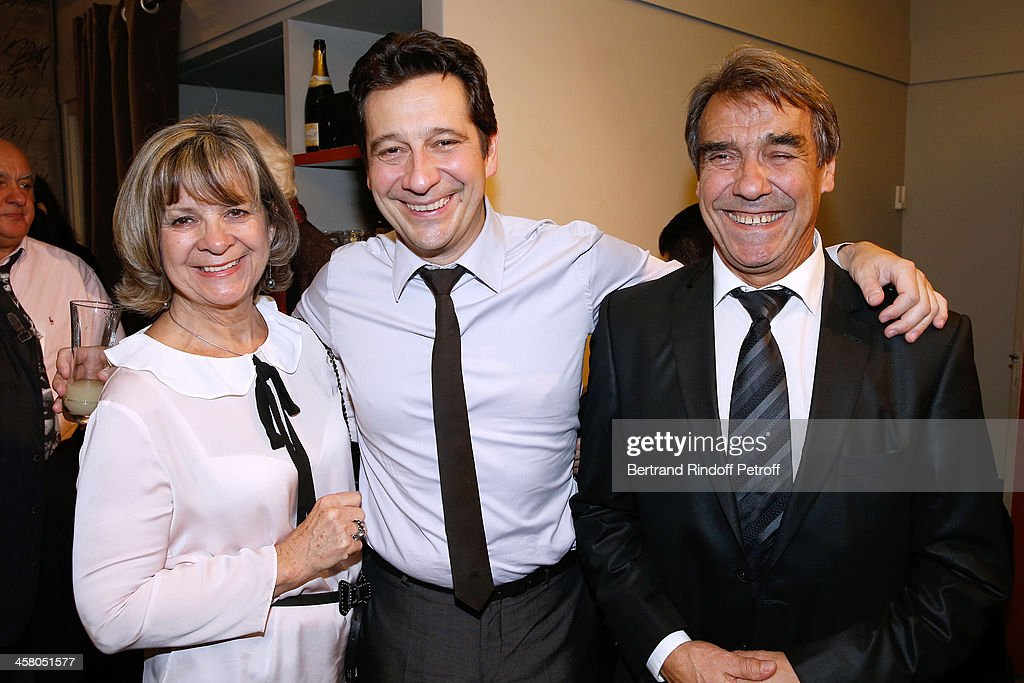 <a gi-track='captionPersonalityLinkClicked' href=/galleries/search?phrase=Laurent+Gerra&family=editorial&specificpeople=538435 ng-click='$event.stopPropagation()'>Laurent Gerra</a> (C) poses backstage with his mother Nicole (L) and father Jean-Christian, known as Nanou following the show of impersonator <a gi-track='captionPersonalityLinkClicked' href=/galleries/search?phrase=Laurent+Gerra&family=editorial&specificpeople=538435 ng-click='$event.stopPropagation()'>Laurent Gerra</a> 'Un spectacle Normal' at L'Olympia on December 19, 2013 in Paris, France.