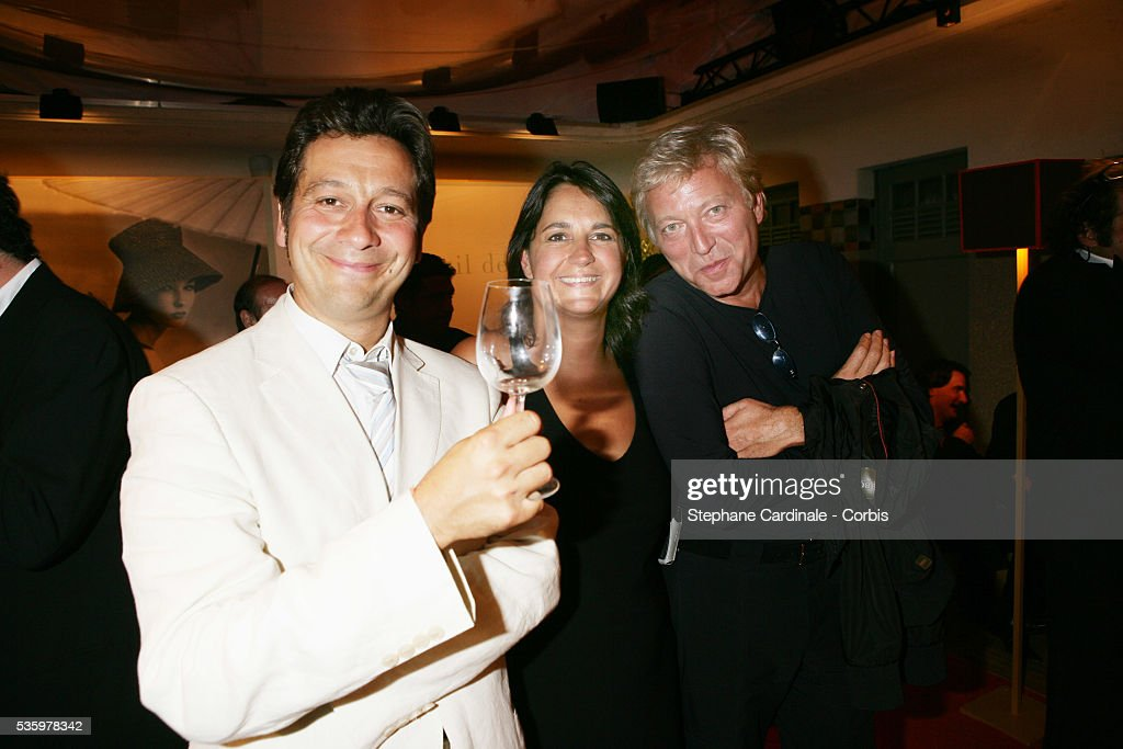 Laurent Gerra, Valerie Expert, Laurent Boyer at the 'Cartier Party' at the 31st American Deauville Film Festival.