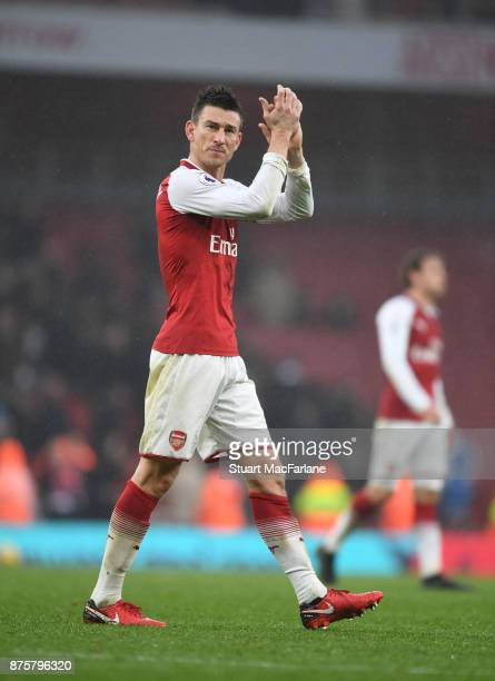 Laurent Koscielny of Arsenal after the Premier League match between Arsenal and Tottenham Hotspur at Emirates Stadium on November 18 2017 in London...