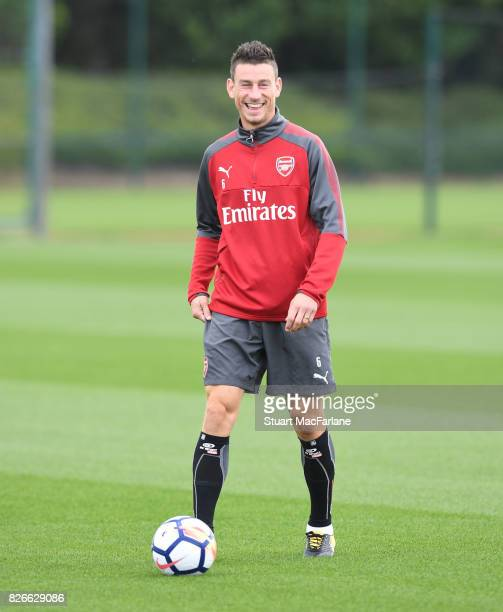 Laurent Koscielny of Arsenal before a training session at London Colney on August 5 2017 in St Albans England