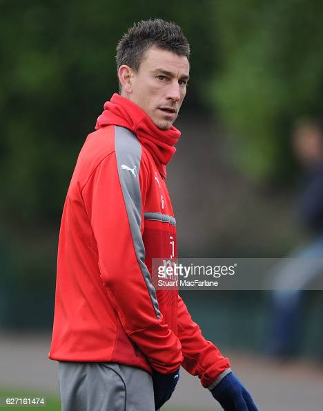 Laurent Koscielny of Arsenal during a training session at London Colney on December 2 2016 in St Albans England
