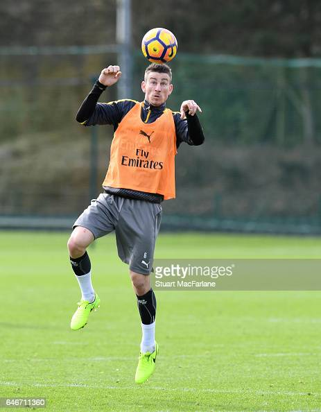 Laurent Koscielny of Arsenal during a training session at London Colney on March 1 2017 in St Albans England