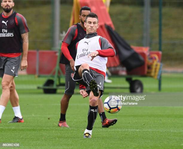 Laurent Koscielny of Arsenal during a training session at London Colney on October 13 2017 in St Albans England