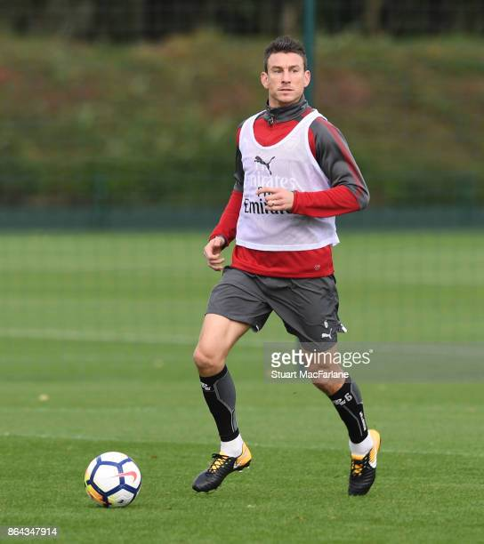 Laurent Koscielny of Arsenal during a training session at London Colney on October 21 2017 in St Albans England