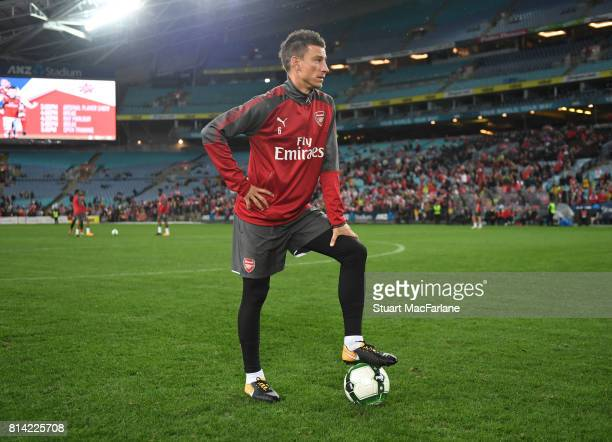 Laurent Koscielny of Arsenal during a training session at the ANZ Stadium on July 14 2017 in Sydney New South Wales