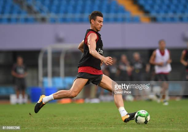 Laurent Koscielny of Arsenal during an Arsenal Training Session at Yuanshen Sports Centre Stadium on July 17 2017 in Shanghai China