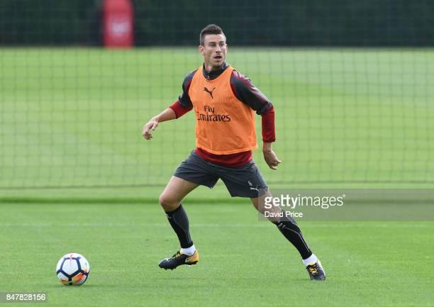 Laurent Koscielny of Arsenal during Arsenal 1st team training session at London Colney on September 16 2017 in St Albans England