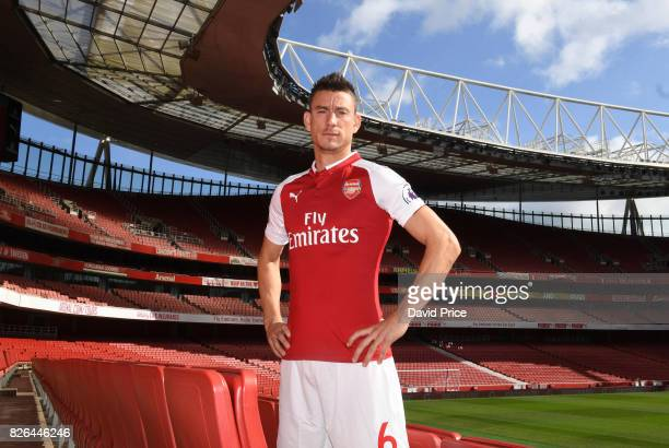 Laurent Koscielny of Arsenal during the Arsenal 1st team photocall at Emirates Stadium on August 3 2017 in London England