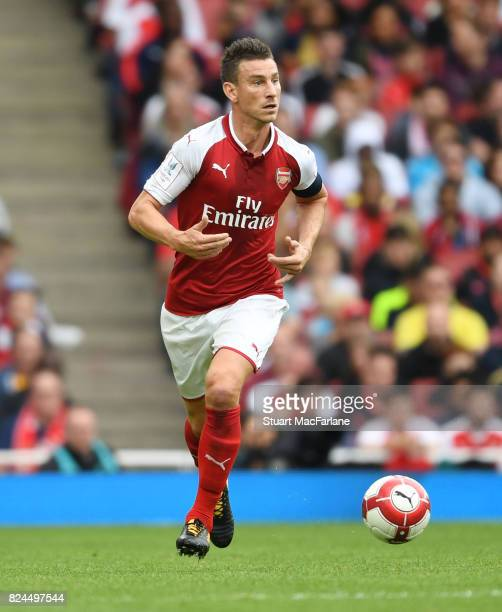 Laurent Koscielny of Arsenal during the Emirates Cup match between Arsenal and Seville at Emirates Stadium on July 30 2017 in London England