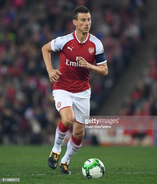 Laurent Koscielny of Arsenal during the match between the Western Sydney Wanderers and Arsenal FC at ANZ Stadium on July 15 2017 in Sydney Australia