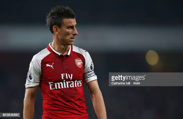Laurent Koscielny of Arsenal during the Premier League match between Arsenal and West Bromwich Albion at Emirates Stadium on September 25 2017 in...