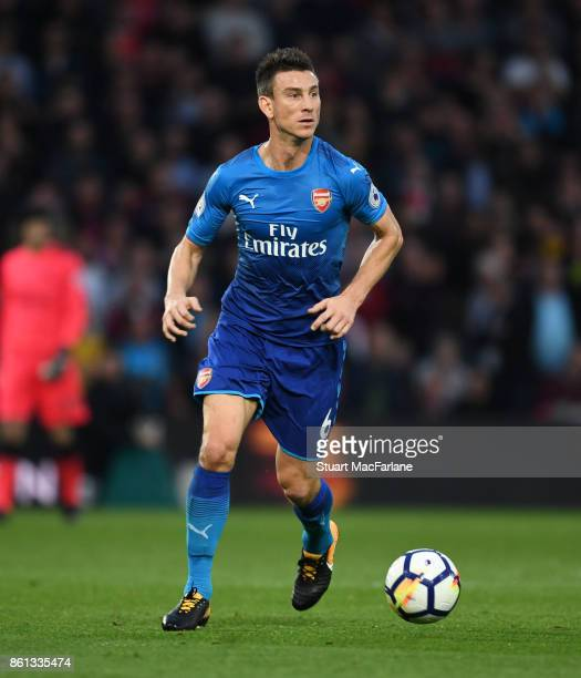 Laurent Koscielny of Arsenal during the Premier League match between Watford and Arsenal at Vicarage Road on October 14 2017 in Watford England