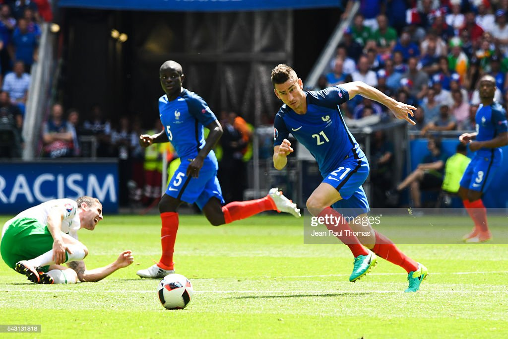 Laurent Koscielny of France during the European Championship match Round of 16 between France and Republic of Ireland at Stade des Lumieres on June 26, 2016 in Lyon, France.