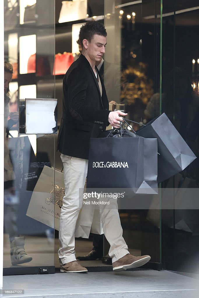 <a gi-track='captionPersonalityLinkClicked' href=/galleries/search?phrase=Laurent+Koscielny&family=editorial&specificpeople=2637418 ng-click='$event.stopPropagation()'>Laurent Koscielny</a> seen shopping at Dolce & Gabbana on Old Bond St on April 3, 2013 in London, England.