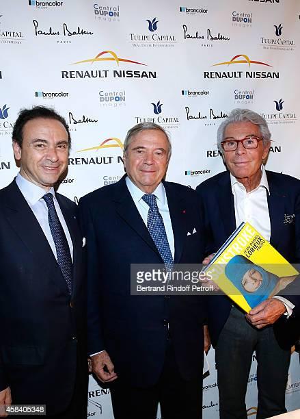 Laurent Kraemer Hubert Guerrand Hermes and JeanDaniel Lorieux attend JeanDaniel Lorieux signs his Book 'Sunstroke' at the Art Bookshop of the 'Royal...
