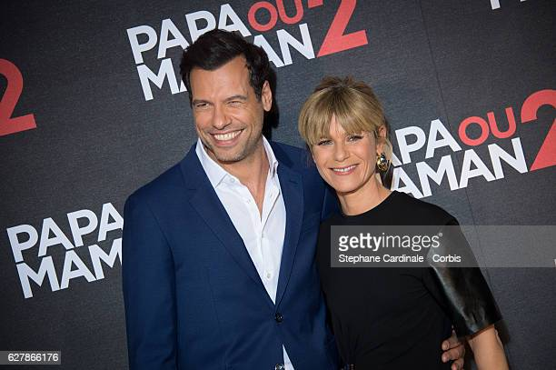 Laurent Lafitte and Marina Fois attend the 'Papa ou Maman 2' Paris Premiere At Cinema Gaumont Alesia on December 5 2016 in Paris France