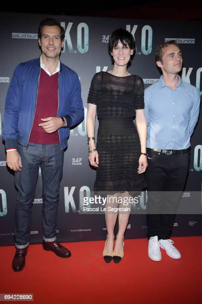 Laurent LafitteClotilde Hesme and Fabrice Gobert attend KO Premiere at Gaumont Capucines on June 9 2017 in Paris France