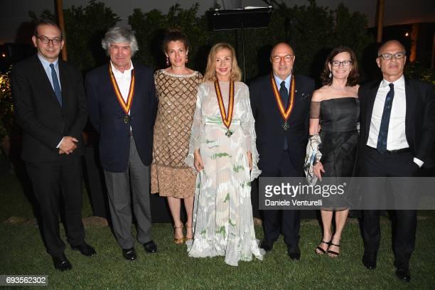 Laurent Le Bon Giuseppe Penone Ginevra Elkann Francesca Lo Schiavo Dante Ferretti and Mary Margaret Jones attend McKim Medal Gala at Villa Aurelia on...