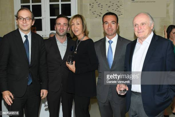 Laurent Lebon a guest Patricia Marshall Frederic Nizard and David Nahmad attend a cocktail in honour of Diana Widmaier Picasso and Alexander SC Rower...