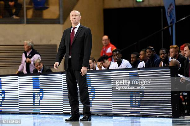 Laurent Legname coach of Dijon during the Pro A match between Antibes sharks and JDA Dijon on November 4 2016 in Antibes France