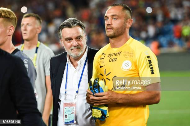 Laurent Nicollin President and Laurrent Pionnier of Montpellier during the Ligue 1 match between Montpellier Herault SC and SM Caen at Stade de la...