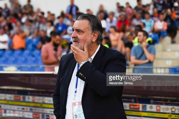 Laurent Nicollin President of Montpellier during the Ligue 1 match between Montpellier Herault SC and SM Caen at Stade de la Mosson on August 5 2017...