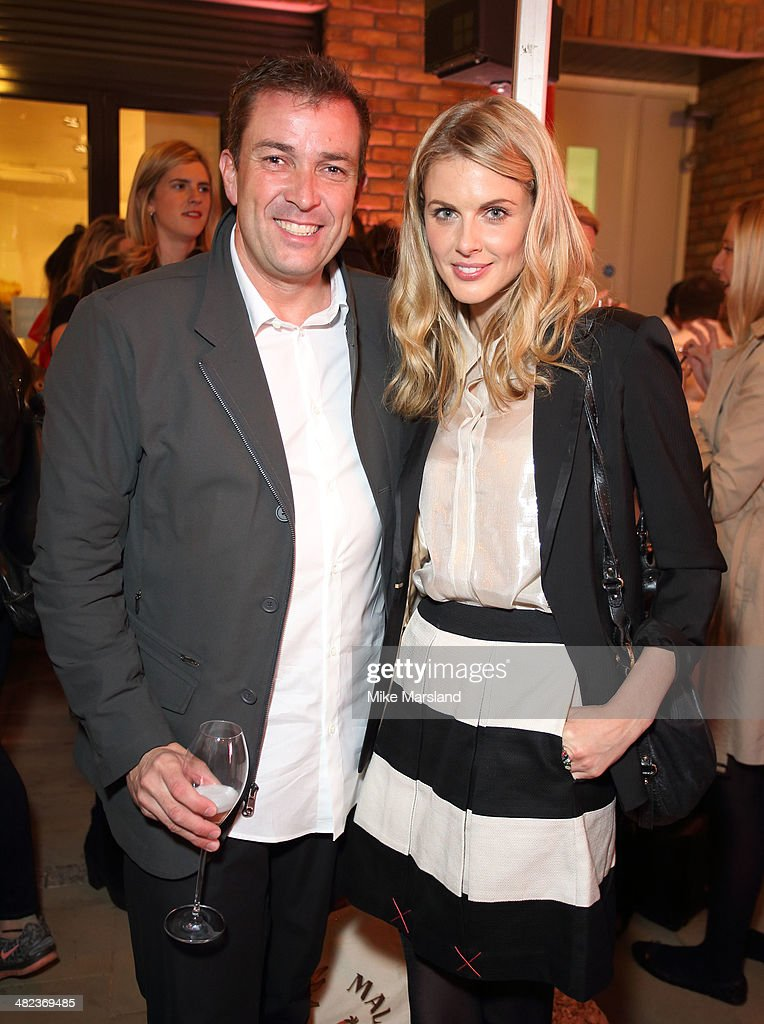 Laurent Potdevin and Donna Air attend the Lululemon launch party to celebrate there first store in UK on April 3, 2014 in London, England.