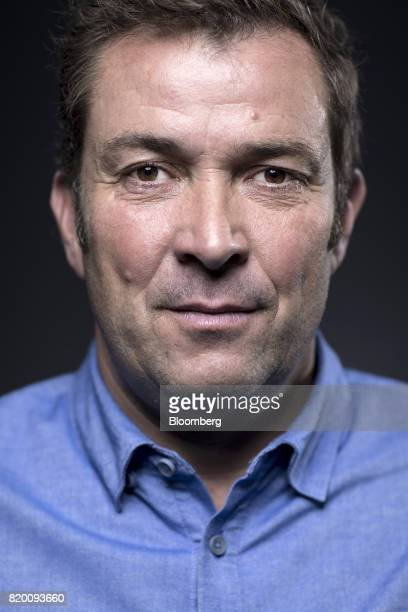 Laurent Potdevin chief executive officer of Lululemon Athletica Inc poses for a photograph following a Bloomberg Television interview in London UK on...