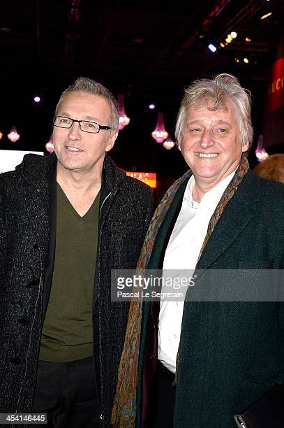 Laurent Ruquier and Gilbert Rozon attend the Gucci Paris Masters 2013 on December 7 2013 in Paris France
